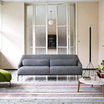 Contemporary sofa / fabric / 2-seater / anthracite