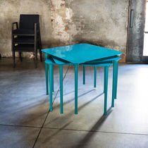 Contemporary table / MDF / rectangular / stackable