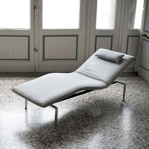 Contemporary chaise longue / fabric / indoor / adjustable backrest