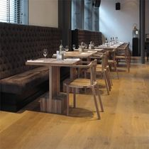 Contemporary dining table / wooden / rectangular / for restaurants