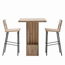 Contemporary high bar table / wooden / rectangular / for restaurants