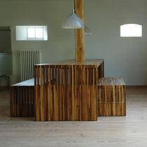 Contemporary bench / wooden