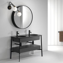 Double washbasin cabinet / free-standing / ceramic / contemporary
