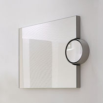 Wall-mounted bathroom mirror / contemporary / rectangular / metal