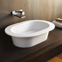 Countertop washbasin / ceramic / contemporary