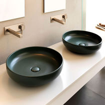 Countertop washbasin / round / ceramic / contemporary