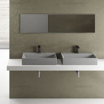 Rectangular washbasin / ceramic / contemporary