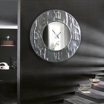 Contemporary clock / analog / wall-mounted / aluminum