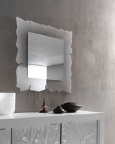 Wall-mounted mirror / contemporary / square / methacrylate