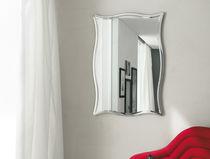 Wall-mounted mirror / contemporary / silver