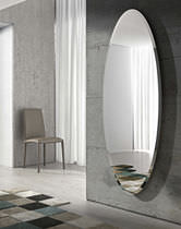 Wall-mounted mirror / contemporary / oval
