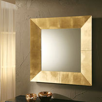 Wall-mounted mirror / contemporary / square / copper