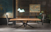 Dining table / contemporary / wooden / crystal