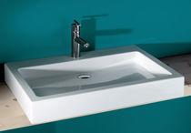 Countertop washbasin / rectangular / ceramic / contemporary