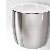 Wall-mounted washbasin / round / ceramic / original design