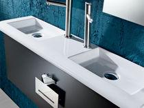 Free-standing hand basin / rectangular / ceramic