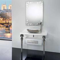 Free-standing washbasin cabinet / ceramic / classic
