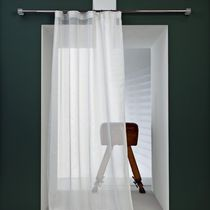 Striped sheer curtain fabric / Trevira CS® / fire-rated / residential