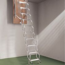 Accordion protection ladder / retractable / aluminum
