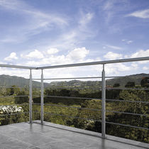 Stainless steel railing / with bars / indoor / outdoor