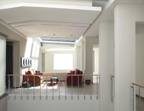 Indoor railing / aluminum / cable / with bars