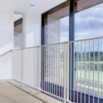 Steel railing / with bars / indoor / outdoor