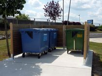 Recycling bin enclosure