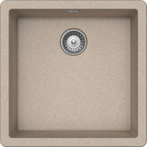 Single-bowl kitchen sink / composite / square