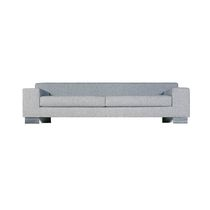 Contemporary sofa / leather / 3-seater / gray