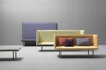 Contemporary sofa / fabric / 3-seater / high-back