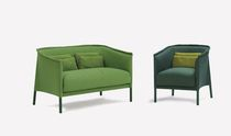 Contemporary sofa / fabric / for hotels / 2-seater