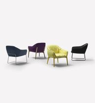 Contemporary armchair / fabric