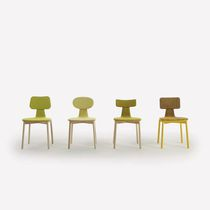 Scandinavian design chair / with armrests / upholstered / ash