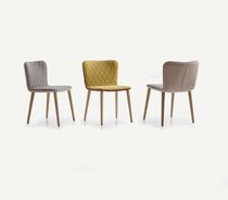 Contemporary chair / upholstered / oak