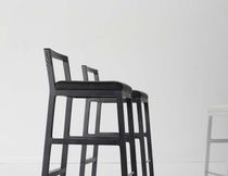 Contemporary bar chair / steel