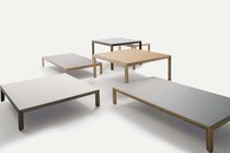 Contemporary coffee table / wooden / ceramic / square