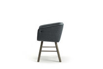 Contemporary dining chair / with armrests / fabric / ash