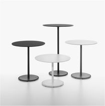 Contemporary bistro table / cast iron / HPL / MDF