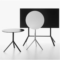 Contemporary bistro table / aluminum / HPL / MDF