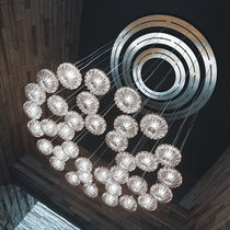 Contemporary chandelier / glass / incandescent