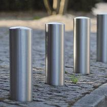 Security bollard / stainless steel / retractable