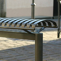 Public bench / contemporary / metal / stand-up