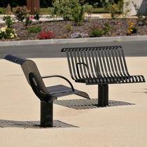 Public bench / contemporary / metal