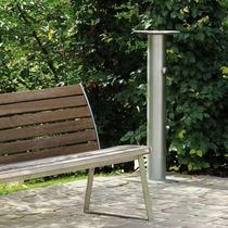 Outdoor drinking fountain / steel