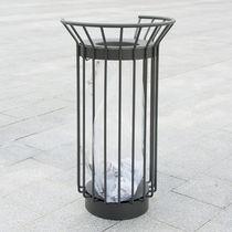 Public trash can / metal / anti-terrorism / contemporary