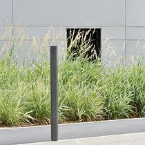 Security bollard / stainless steel / high