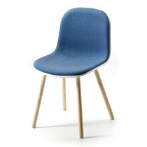 Scandinavian design chair / upholstered / polypropylene / fabric