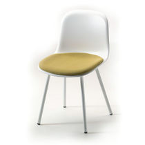 Scandinavian design restaurant chair / painted steel / polypropylene / bistro
