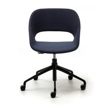Contemporary office chair / upholstered / on casters / star base