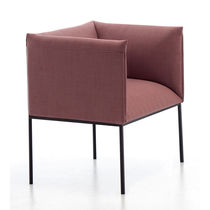 Contemporary armchair / fabric / swivel / star base